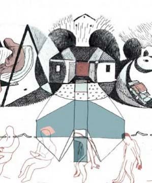 """Le parole di Alessandra Perongini e i disegni di Alice Socal s'insinuano dentro quei condomini anneriti, all'ombra di segreti adottati e cortili tappezzati di aghi di pino. L'autrice mette il lettore a testa in giù e fotografa da angolazioni stranianti una piccola storia funebre. La traccia è """"Persa"""" degli Altro."""