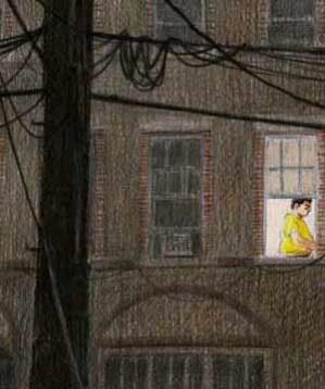In esclusiva, pubblichiamo un racconto del blog dello scrittore Paolo Cognetti con le illustrazioni di Piero Macola. I margini di New York, un uomo con la maglietta gialla alla finestra, Harlem e i raccoglitori di vuoti: Dove si guarda c'è quello che siamo.
