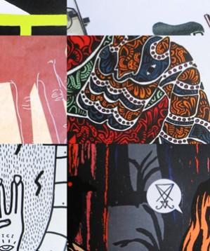 Rumorama Compilation a colori è una compilation musicale illustrata da 13 artisti italiani. E un libro. E un'esposizione itinerante. In visione e ascolto su Piovono Pietre. Quanto rumore fanno i disegni? E quanti colori fanno le canzoni?